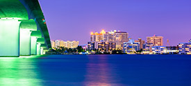 Sarasota's stunning skyline at night