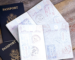 A stack of passports