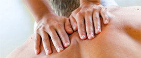 An upper back massage
